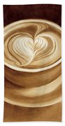 Heart Latte II Beach Towel