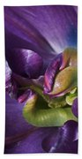 Heart Of A Purple Tulip Beach Sheet