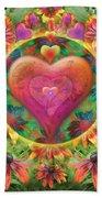 Heart Of Flowers Beach Sheet