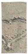 Heart Of Sand Beach Towel