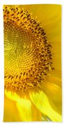 Heart Of The Sunflower Beach Towel