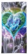 Heart Of Waterfalls Beach Towel