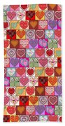 Heart Patches Beach Towel