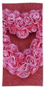 Heart-shaped Floral Arrangement Beach Towel