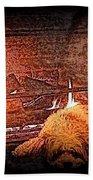 Hearth Warming Pencil Sketch Beach Towel