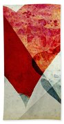Hearts 6 Square Beach Towel