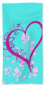 Hearts And Vines Beach Towel