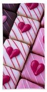 Hearts On Candy Beach Towel