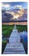 Heavenly Harbor Beach Towel by Debra and Dave Vanderlaan
