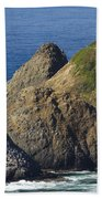 Heceta Head Lighthouse 2 F Beach Towel