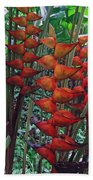Heliconia Haven Beach Towel