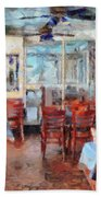 Hellas Restaurant And Bakery  Beach Towel by L Wright