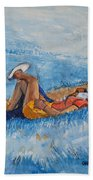 Hello Young Lovers In Blue Beach Towel