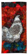 Hen Watch I Beach Towel