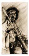 Hendrix-antique Tint Version Beach Towel