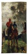 Henri De Toulouse Lautrec Beach Towel by The Jockeys