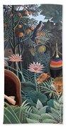 Henri Rousseau The Dream 1910 Beach Towel