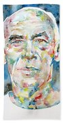 Henry Miller Portrait.1 Beach Towel