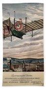 Henson's Aerial Steam Carriage 1843 Beach Towel