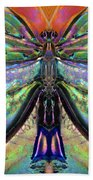 Her Heart Has Wings - Spiritual Art By Sharon Cummings Beach Sheet