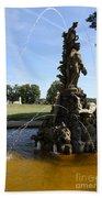 Hercules Sculpture Water Fountain  Beach Towel