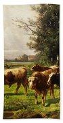 Herd Of Cows Beach Towel