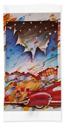 Here Comes The Night Beach Towel