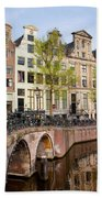 Herengracht Canal Houses In Amsterdam Beach Towel