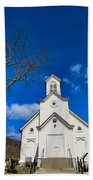 Heres The Church And The Steeple Beach Towel