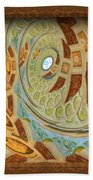 Hermitage Abstract Swirl  Beach Towel