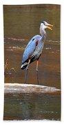 Heron On The Creek Beach Towel