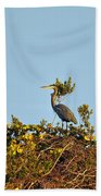Heron Perch Beach Towel