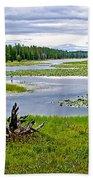 Heron Pond In Grand Teton National Park-wyoming   Beach Towel