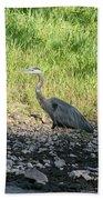Heron Travels  Beach Towel