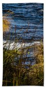 Heron Watchful Eye Beach Towel