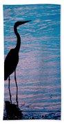 Herons Moment Beach Towel