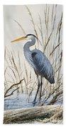 Herons Natural World Beach Towel