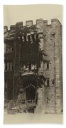 Hever Castle Yellow Plate Beach Towel by Chris Thaxter