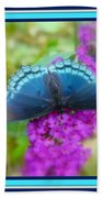 Hi Hello Greeting Card - Red Spotted Purple Butterfly Beach Towel