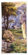 Hidden Images - Horses Beach Towel by Steve Read