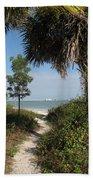 Hidden Path To The Beach Beach Towel