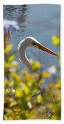 Hiding Egret Beach Towel