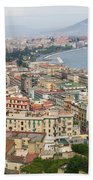 High Angle View Of A City, Naples Beach Towel