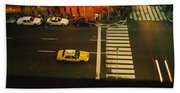 High Angle View Of Cars At A Zebra Beach Towel