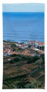 High Angle View Of Houses At A Coast Beach Towel