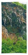 High Cliffs Along River Kwai In Kanchanaburi-thailand Beach Towel