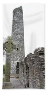 High Cross And Round Tower Monasterboice Beach Towel