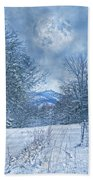 High Peak Mountain Snow Beach Towel