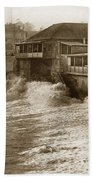 High Tide And Big Waves At Lovers Point Beach Pacific Grove California Circa 1907 Beach Towel