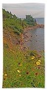 Highlands Coastline In Cape Breton Highlands Np-ns Beach Towel